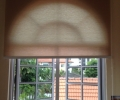 partial sunlight Roller blind in study room